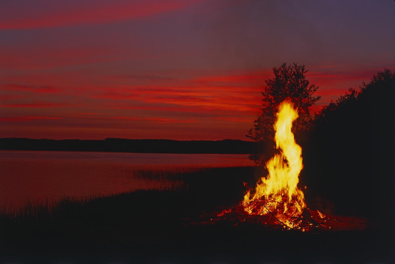 A Midsummer bonfire in Finland. Image ©Visit Finland.