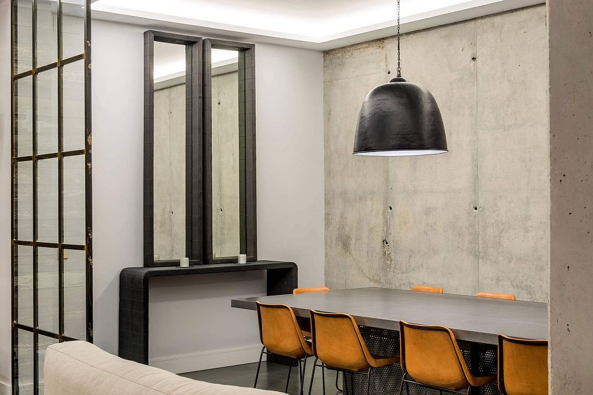 Minimal industrial dining room