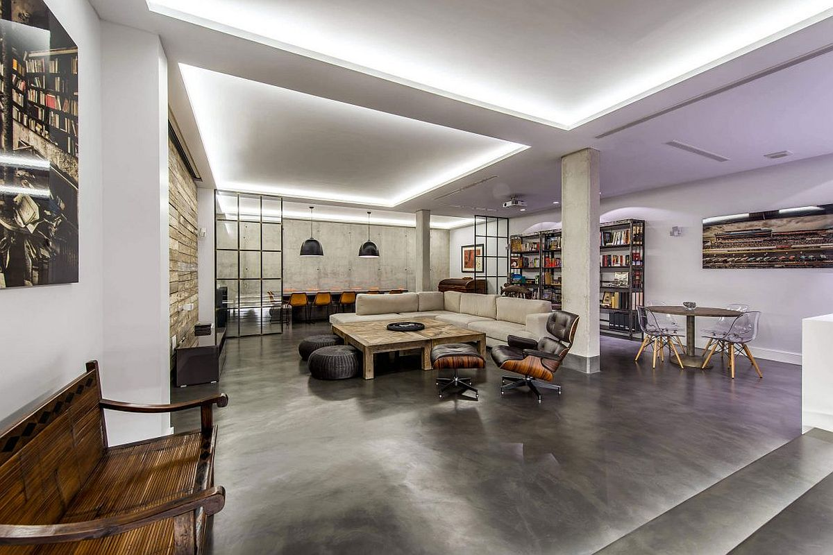 Modern Industrial Madrid Home Dressed In Concrete, Wood