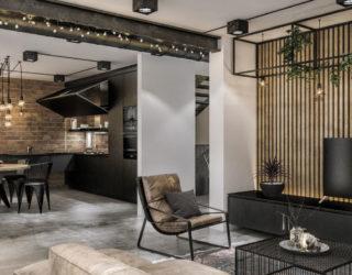 Modern Loft in Kaunas: Industrial Style Wrapped in Unpretentious Lighting