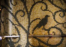 Mosaic-bird-in-gold-and-black-inside-the-luxury-suite-at-Prince-de-Galles-217x155