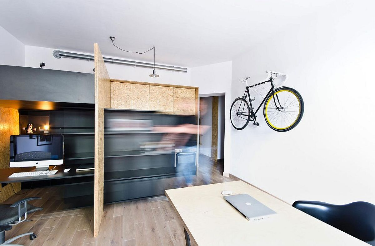 Multifunctional design studio space and apartment in Poznan