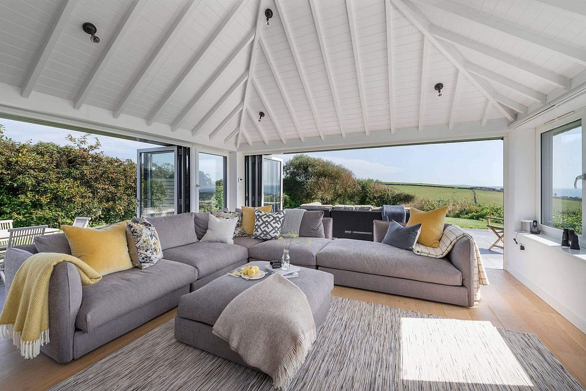 Open and modern interior of the private home in South Hams