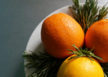 Oranges and rosemary 217x155 Rosemary and Oranges: 2 Ingredients for Holiday Style