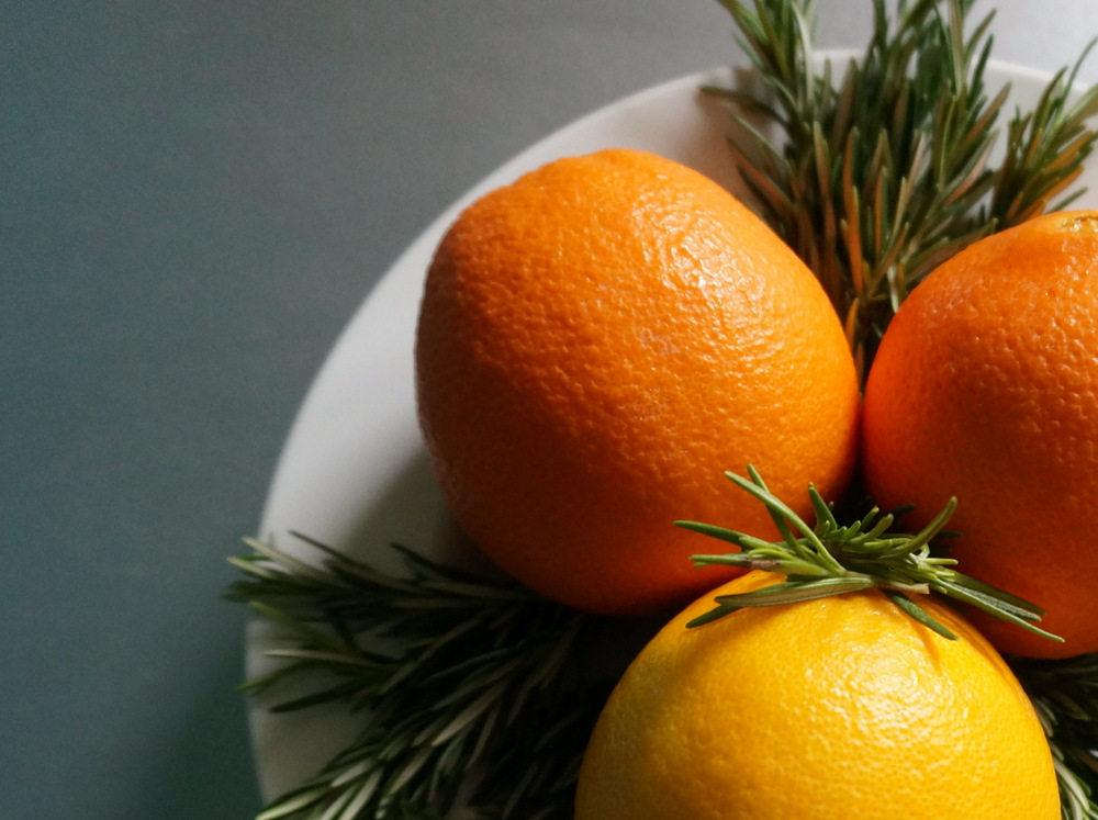 Oranges and rosemary