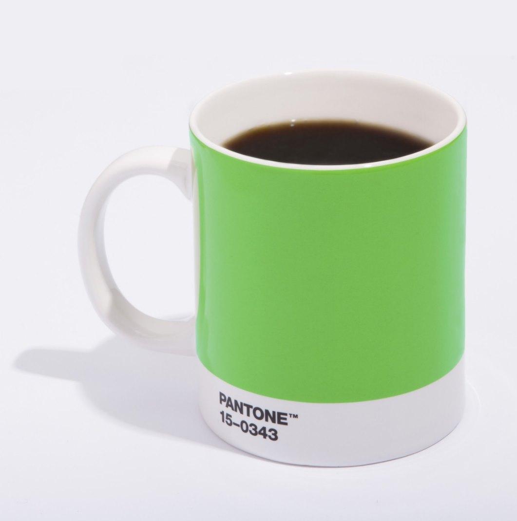 PANTONE's mug in Greenery
