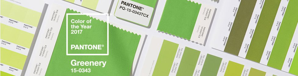 PANTONE's shades of green