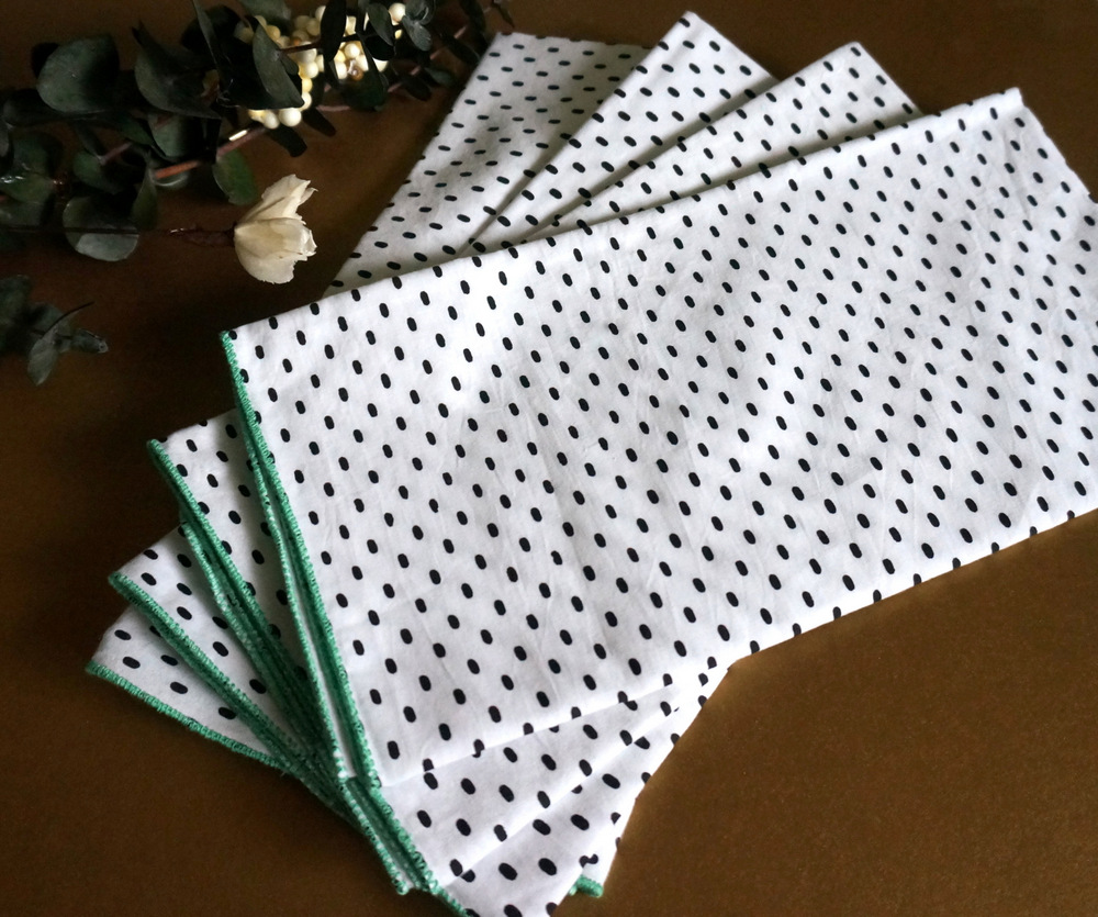 Patterned napkins make an eye-catching gift