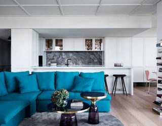 Posh Penthouse Makeover in Melbourne Relies on Chic Décor and LA Glamour