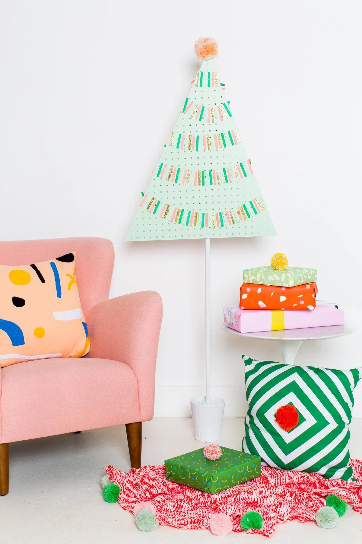 Pegboard Christmas tree