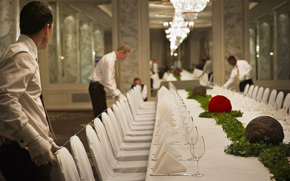 Regal banquette hall at Hotel Schweizerhof