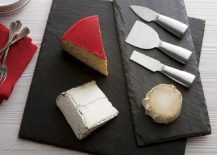 Slate cheese boards from Crate Barrel 217x155 Decorating with Black During the Holidays