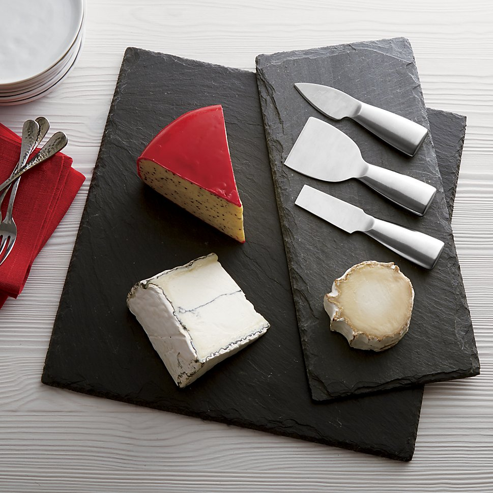 Slate cheese boards from Crate & Barrel