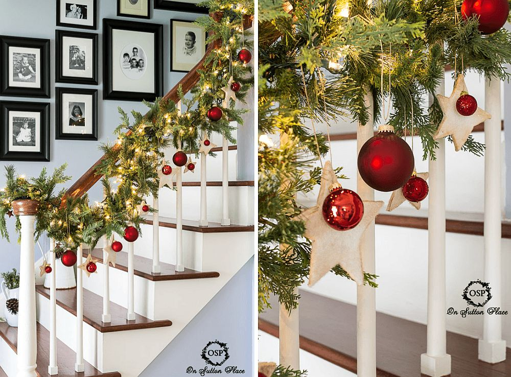 Sparkling way to decorate the stairway in DIY style [From: on Sutton place]