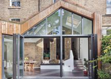 Steel glass and timber extension of the classic Londo home 217x155 Glazed Timber Extension Rejuvenates Dreary London Home