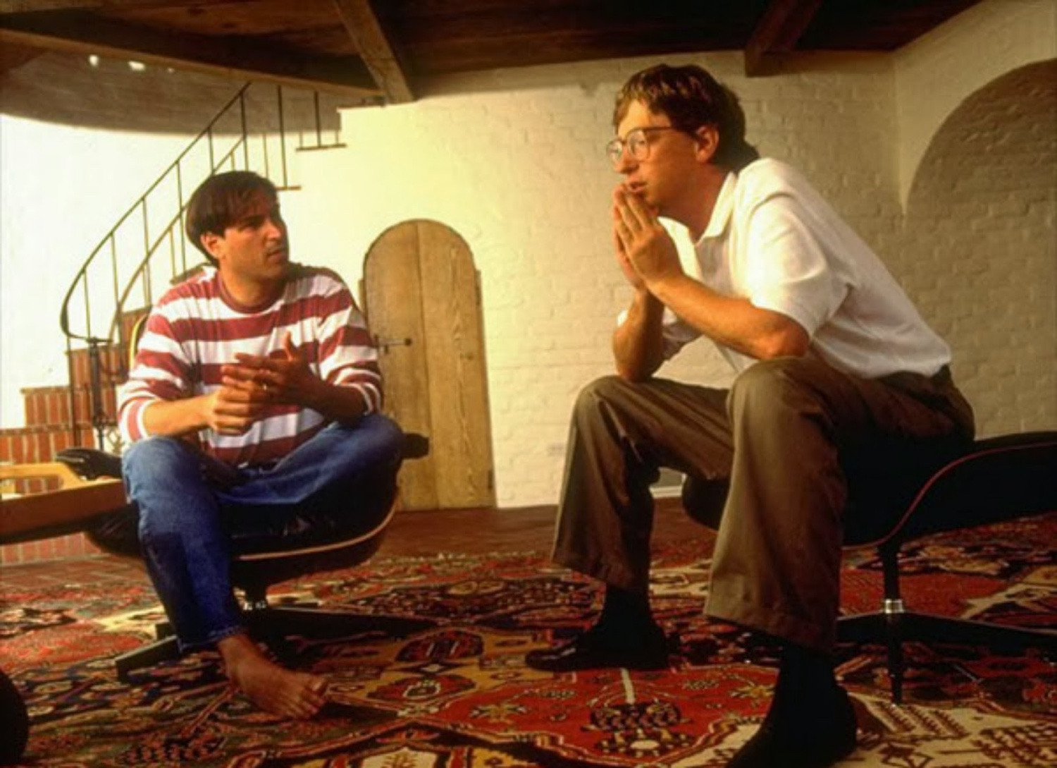 Steve Jobs and Bill Gates. Image © 2016 Eames Office, LLC.