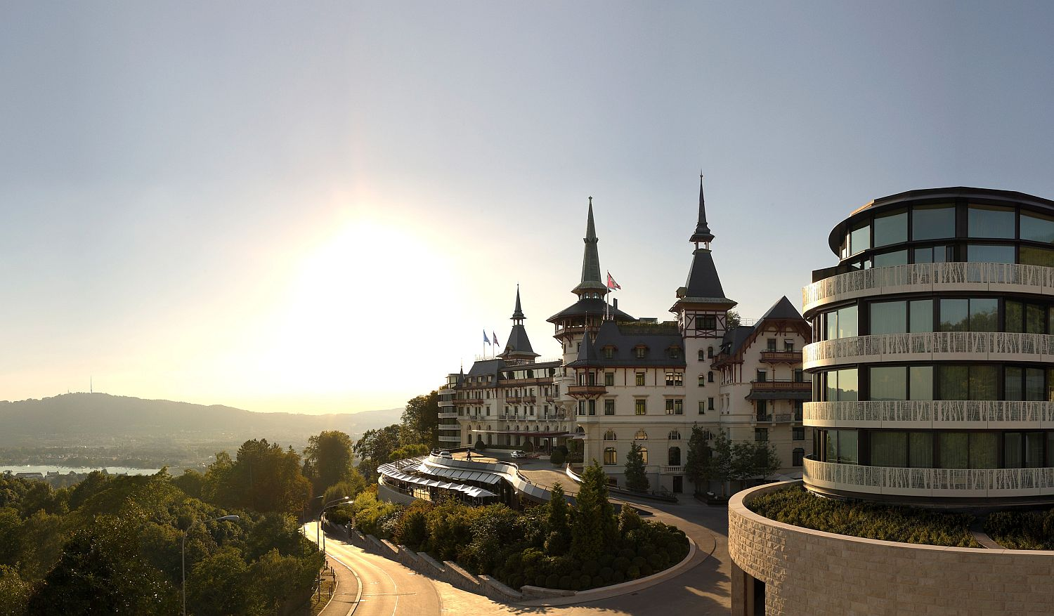 Stunning and spectacular image of The Dolder Grand in Zurich