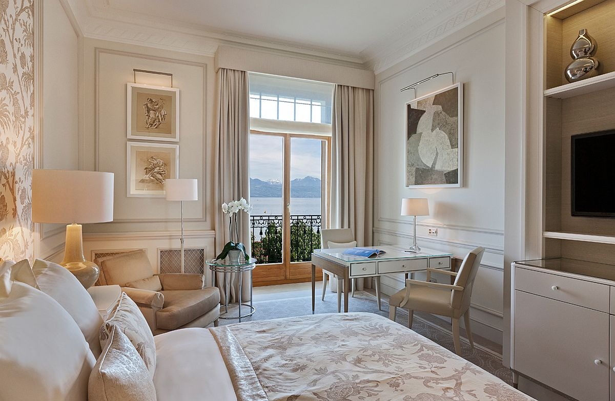 Superior room with lake view at Beau-Rivage Palace