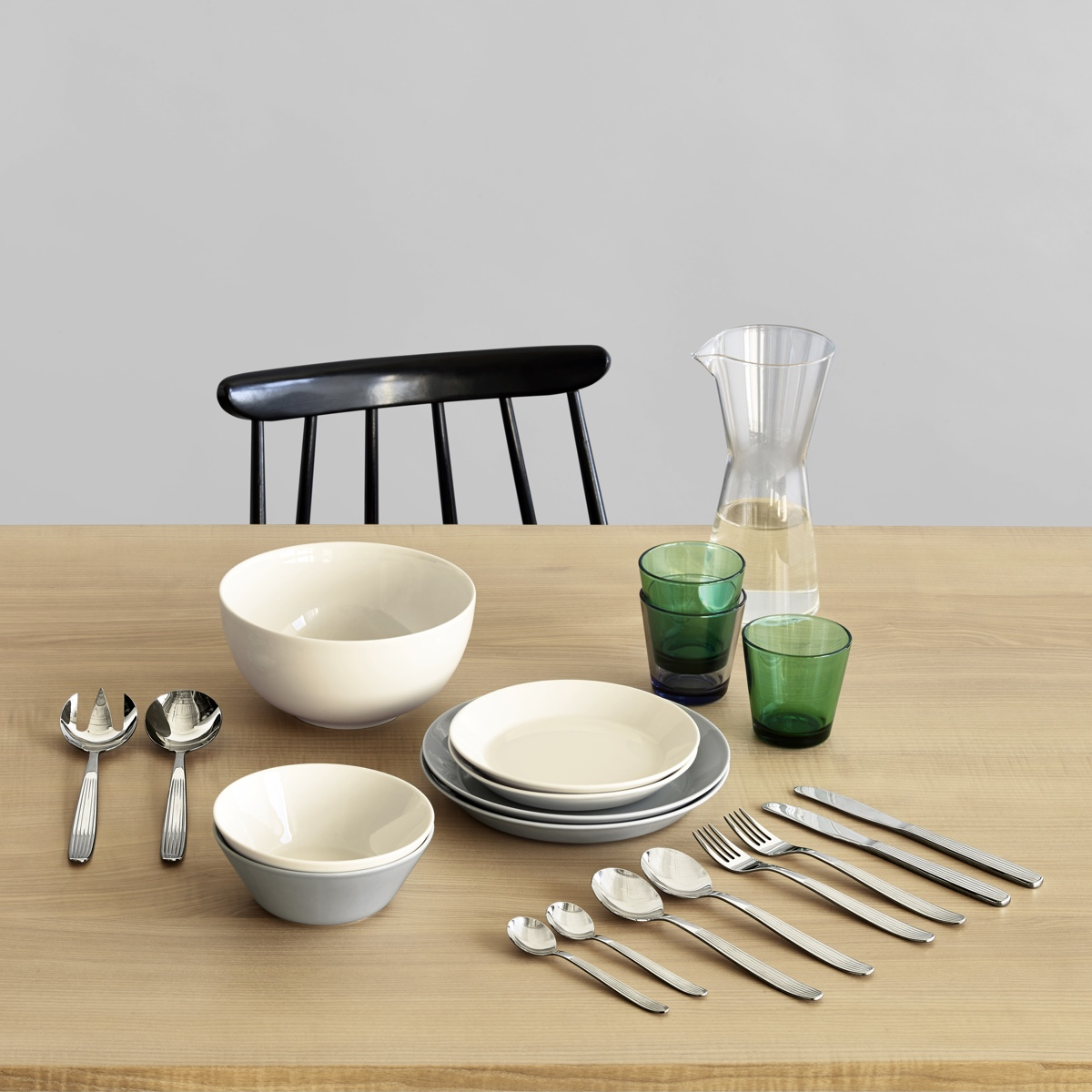 "Kaj Franck is known as the ""conscience of Finnish design."" His Kartio glassware, Teema tableware and Scandia cutlery for Iittala are Finnish design icons."