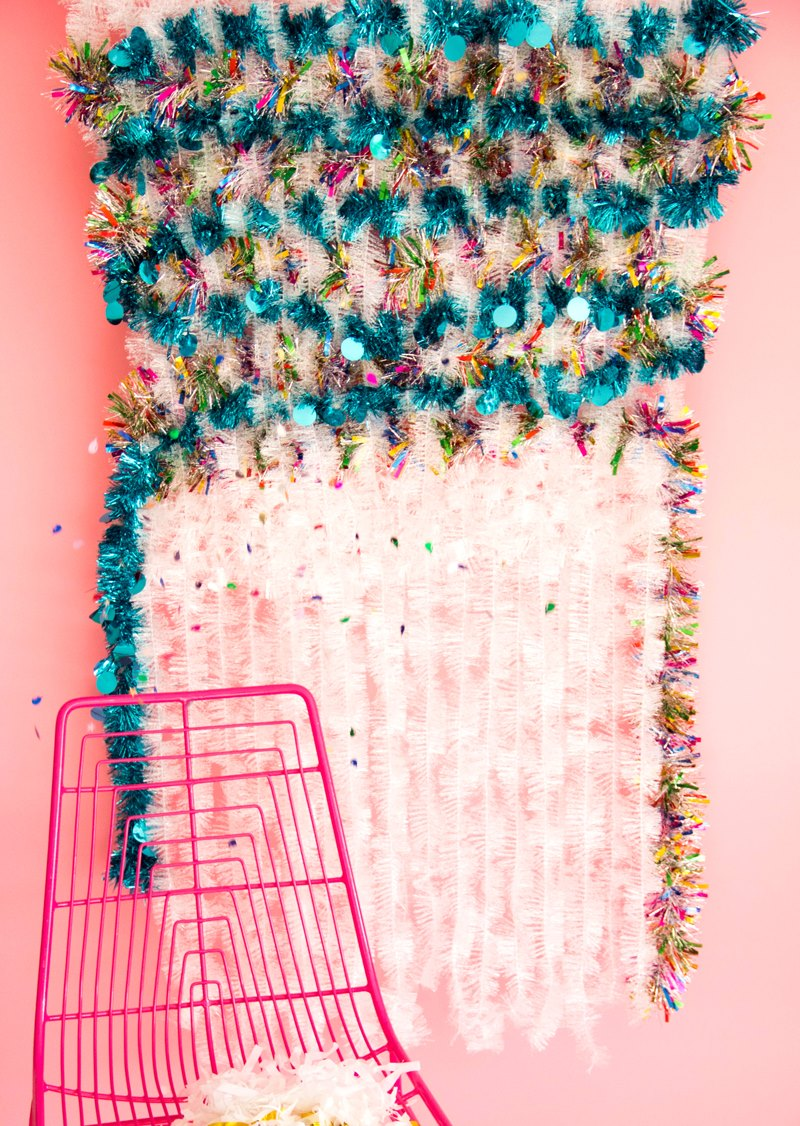 Tinsel wall hanging from A Subtle Revelry