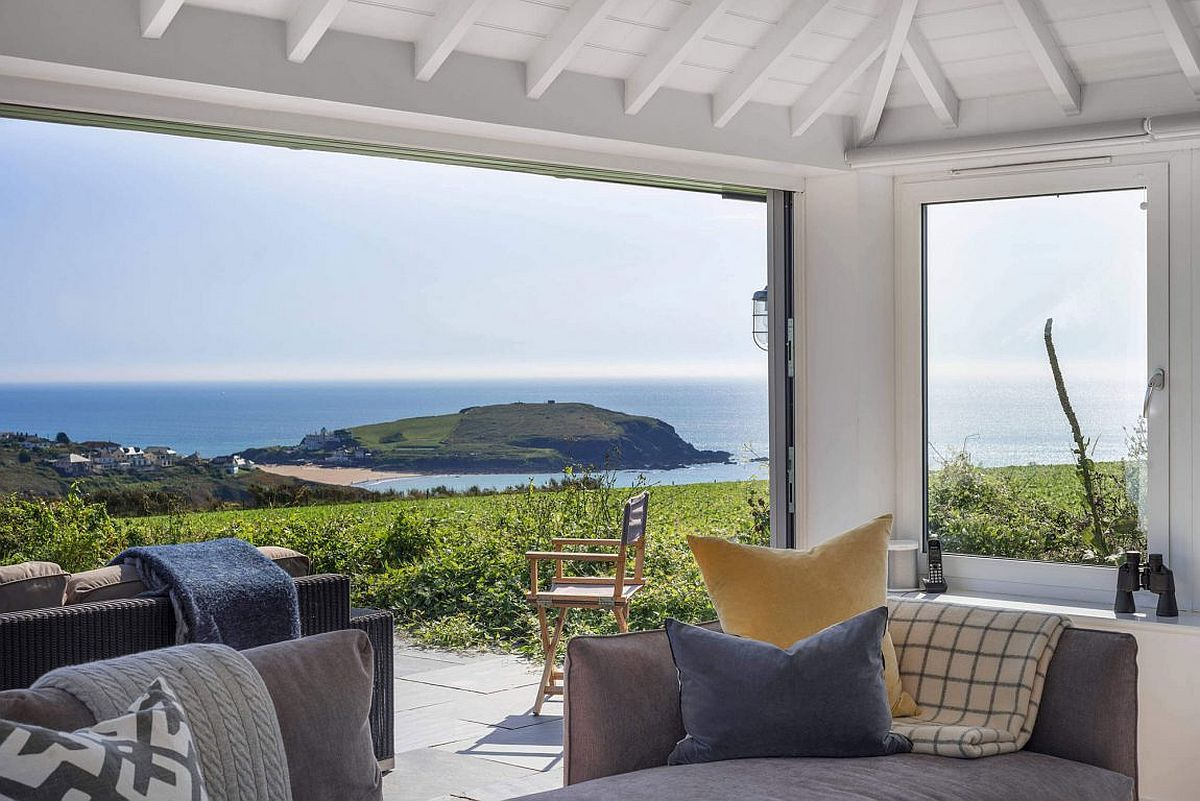 View of the Burgh Island from the South Hams Coastal Home