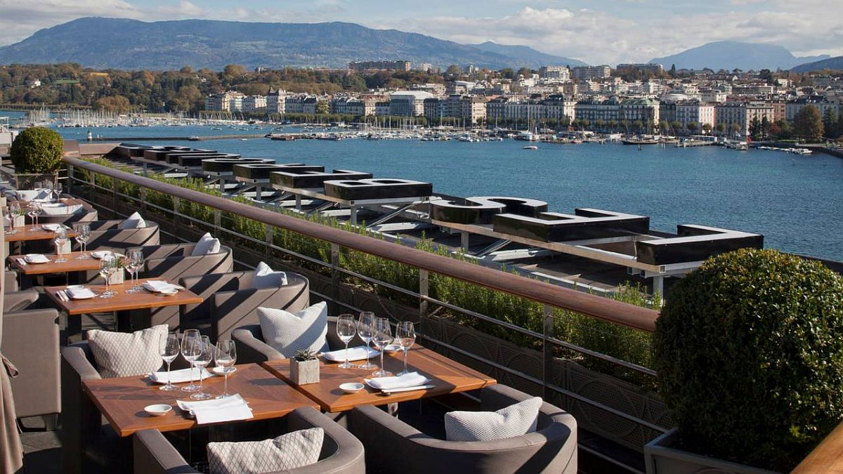 View of the city from Four Seasons des Bergues, Geneva