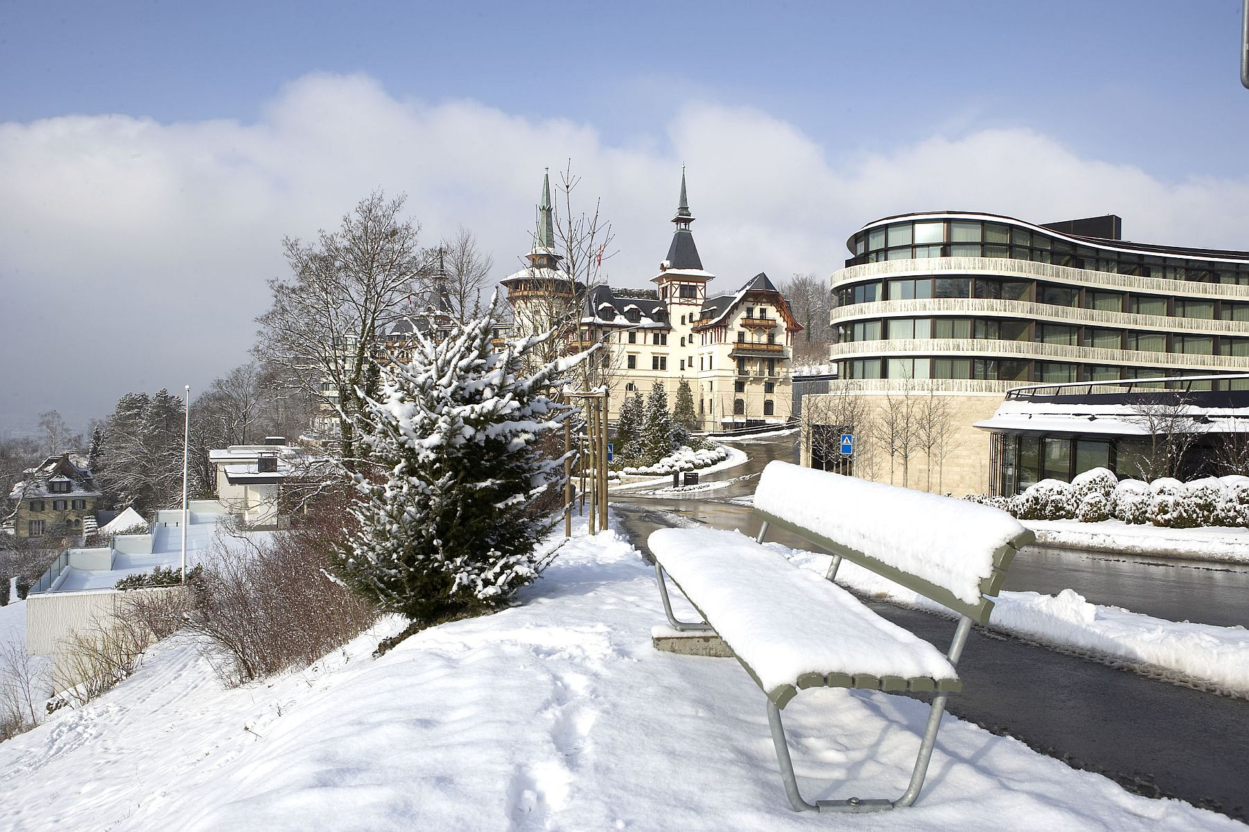 Winter brings its own unique charm at this lavish Swiss hotel and spa in Zurich