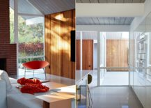 Wooden-siding-and-pops-of-orange-bring-contrast-to-the-interior-217x155