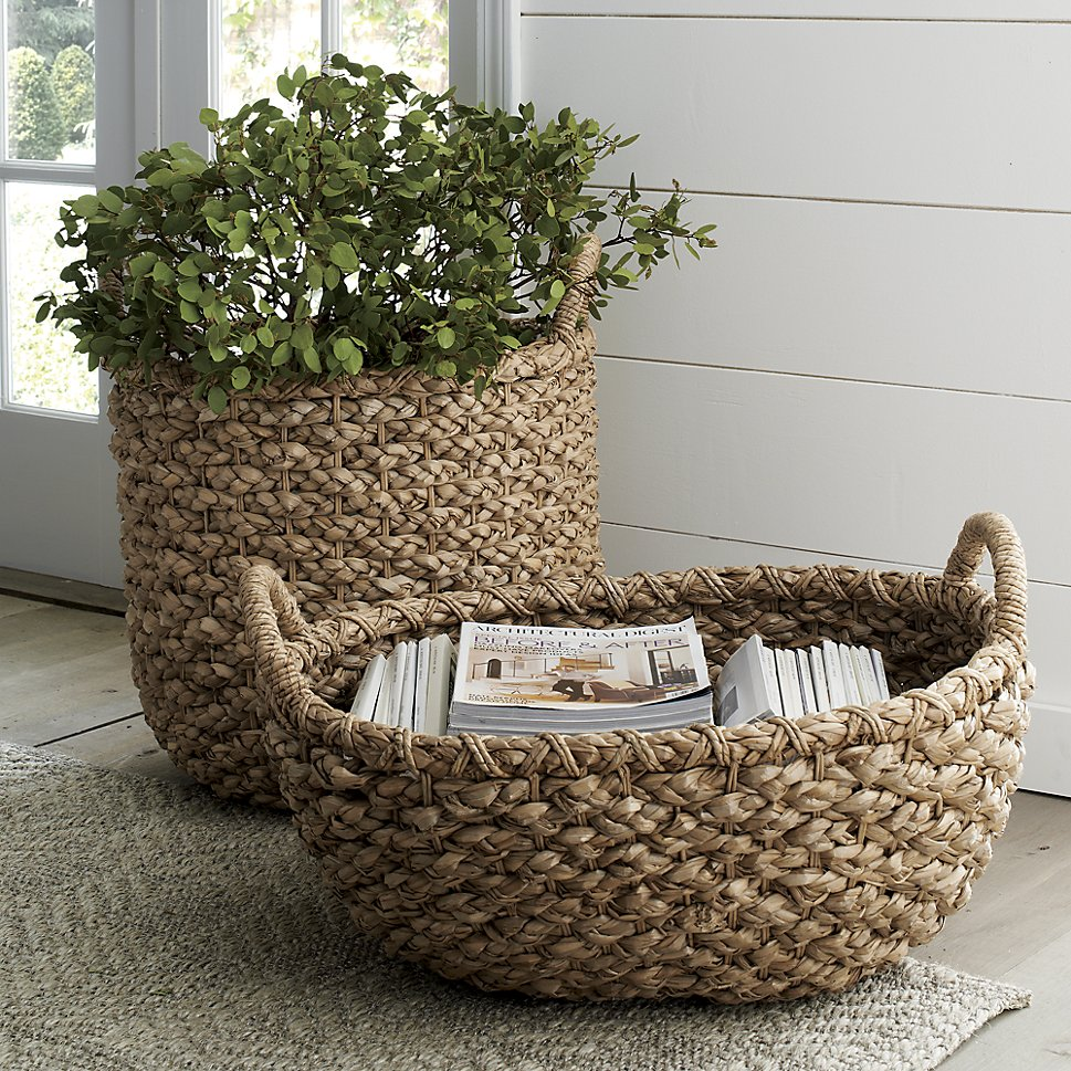 Woven baskets from Crate & Barrel