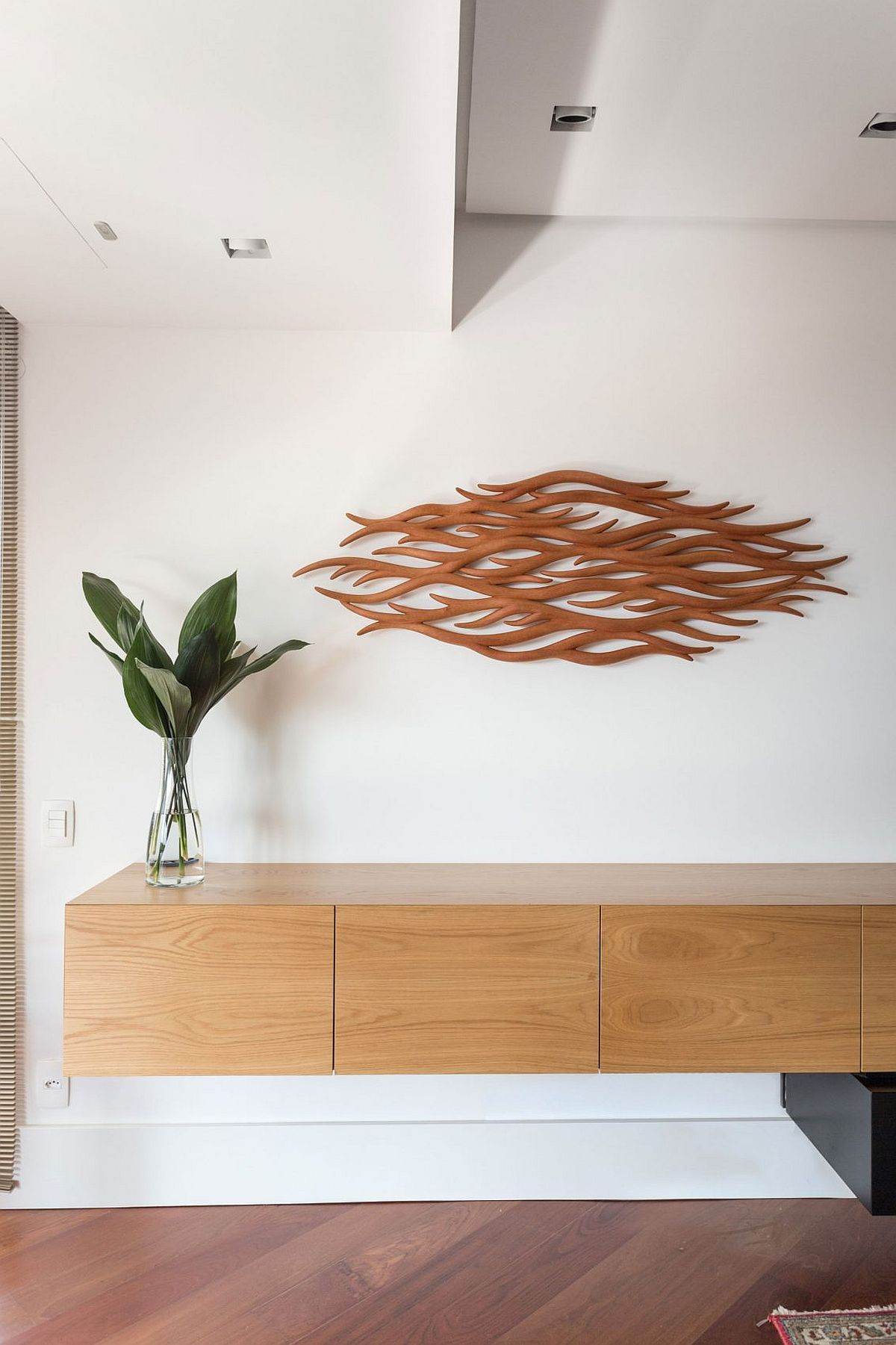 3D wall art addition for the modern Brazilian apartment