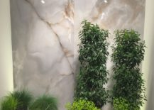 Add height with houseplants 217x155 Modern Wall Decorating Ideas