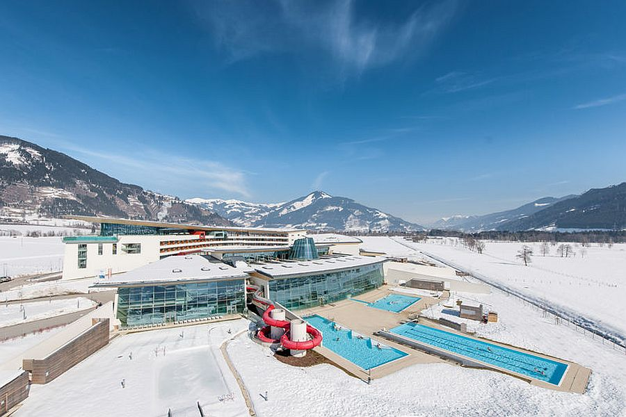 An-aerial-view-of-Tauern-Spa-Hotel-Therme-in-Austria