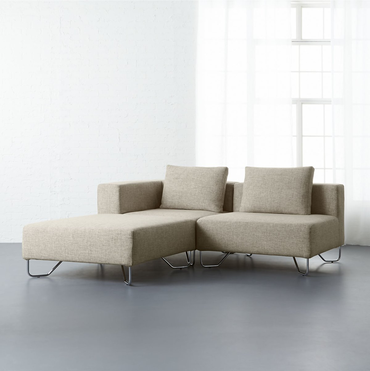 Beige modular seating from CB2