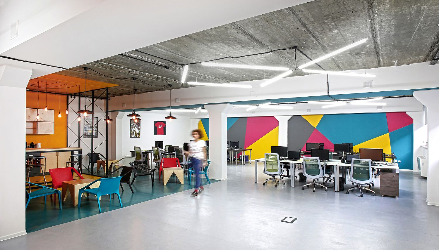 Great View In Gallery Colorful Modern Office Space Design