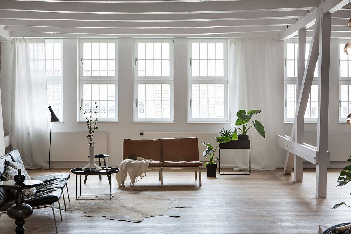 Contemporary penthouse loft in Berlin by Santiago Brotons Design Natural Materials and Exposed Brick Walls Bring a Hint of New York to Berlin!