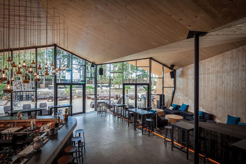 inspiredthe art of origami: creative beach club restaurant in