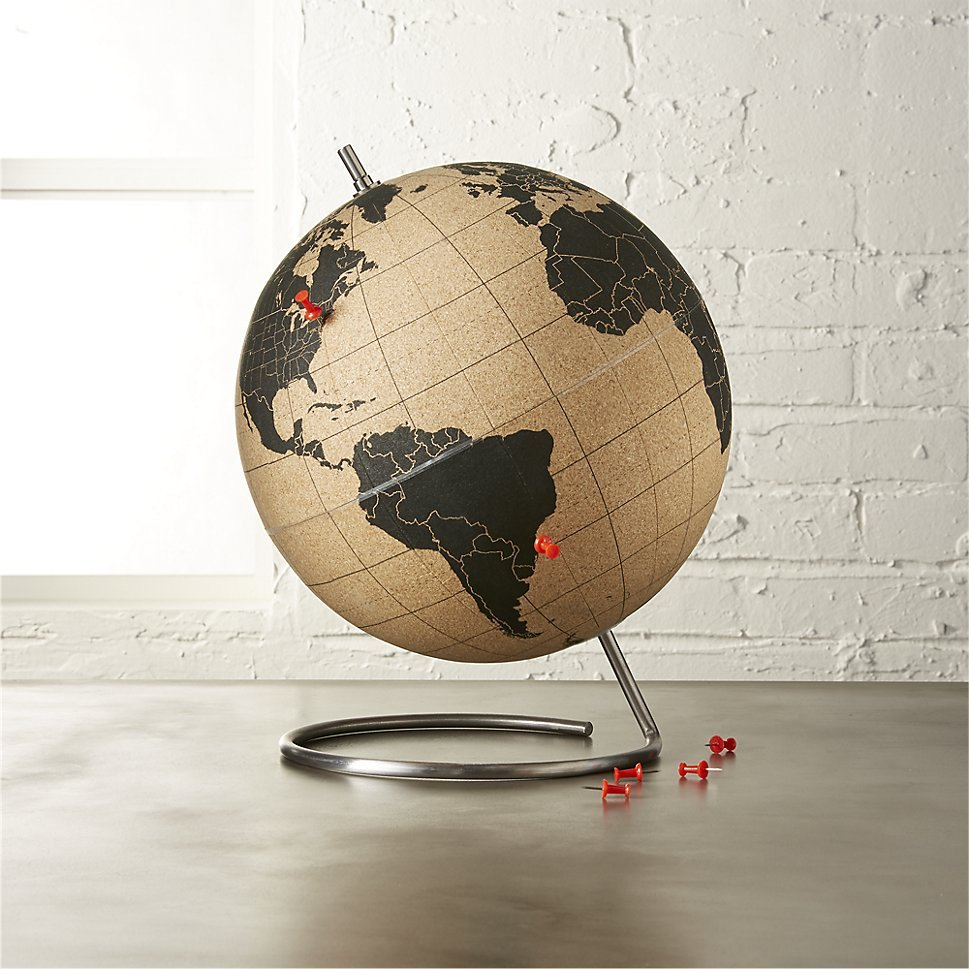 Cork globe from CB2
