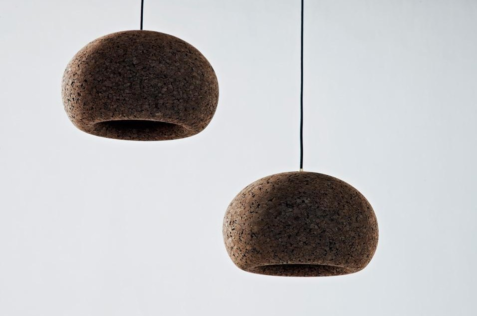 Cork pendants from Wiid Design