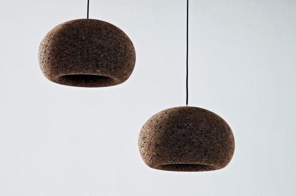 Cork pendants from Wiid Design