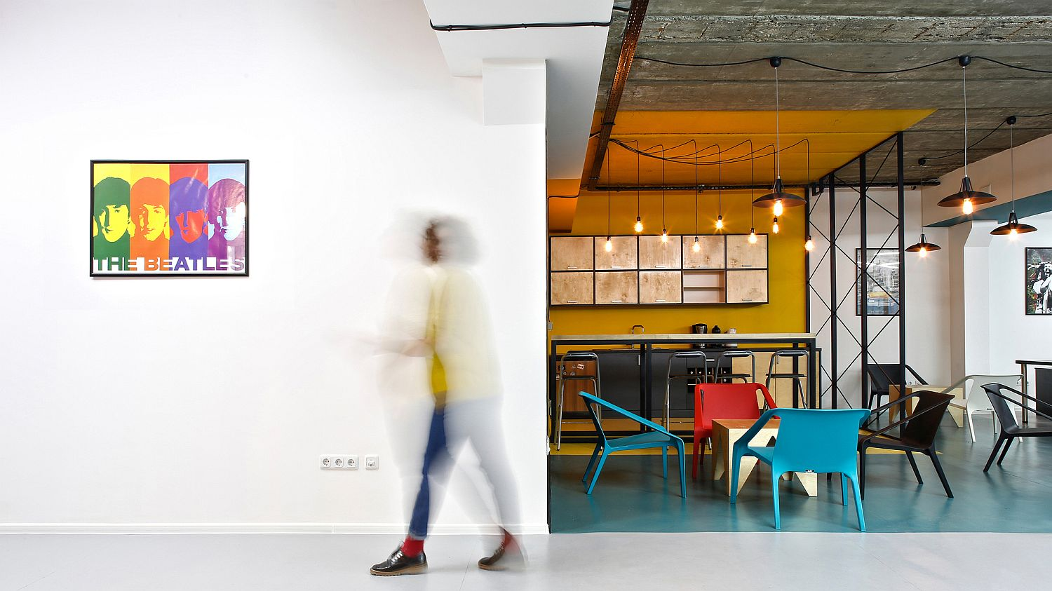 Creative and colorful office designfor software development firm BigBek