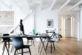 Natural Materials and Exposed Brick Walls Bring a Hint of New York to Berlin!