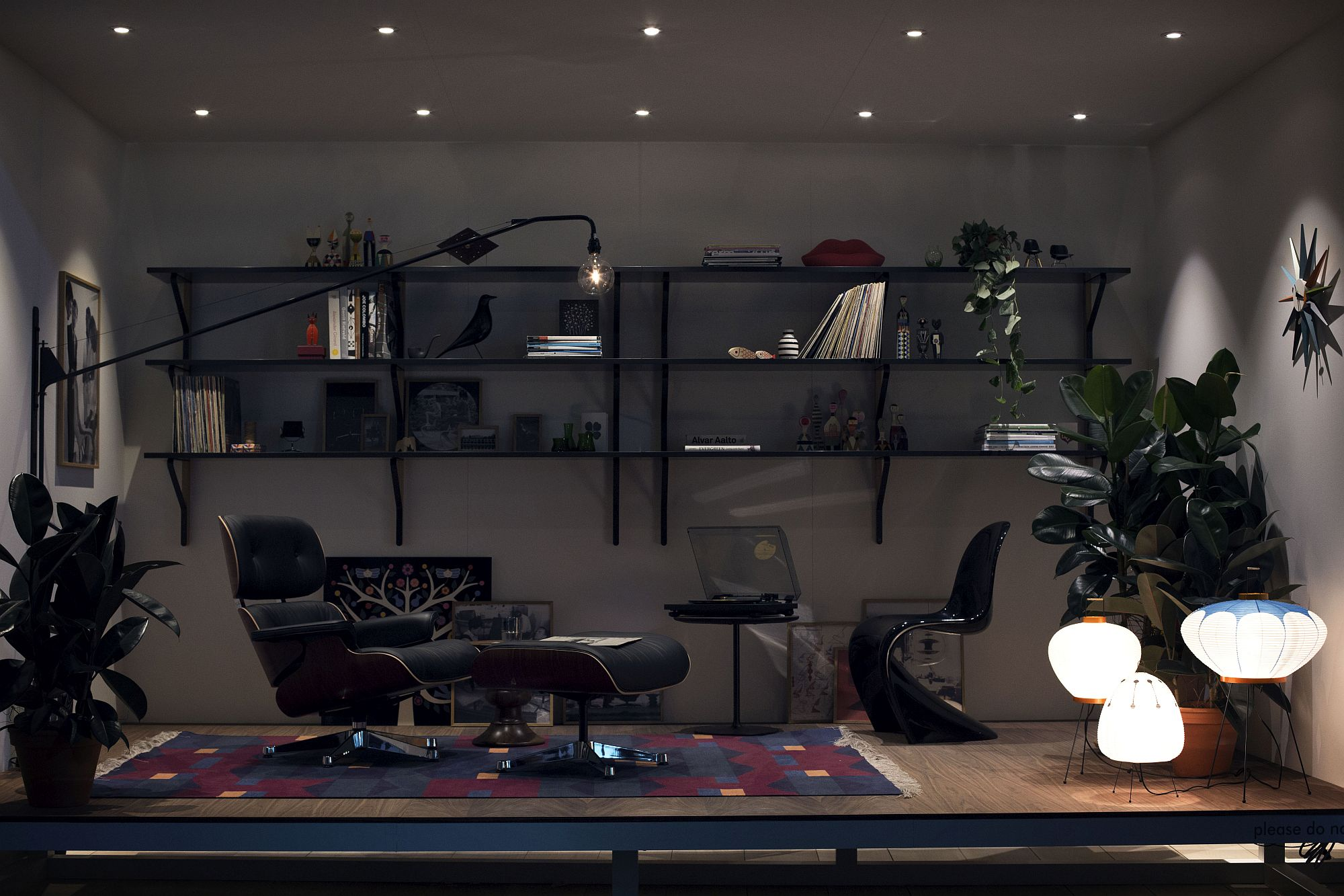 Eames-Lounger-Panton-Chair-and-sculptural-lighting-for-the-sensational-office-space