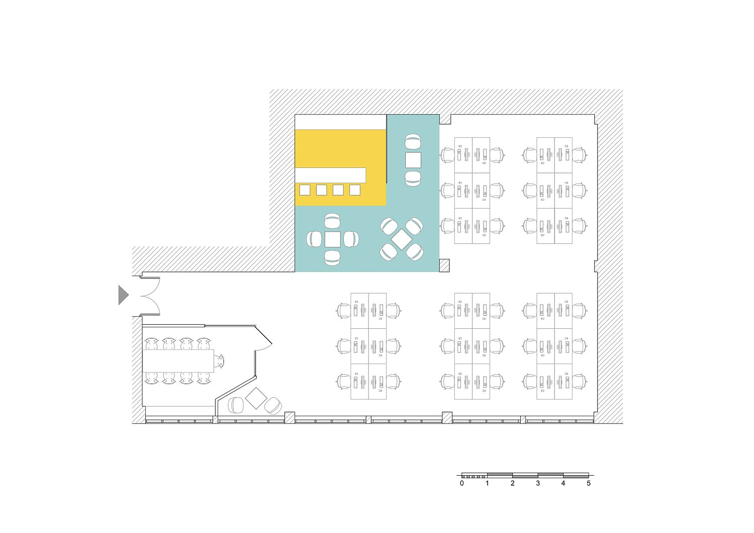 Floor plan of innovative office space in Armenia