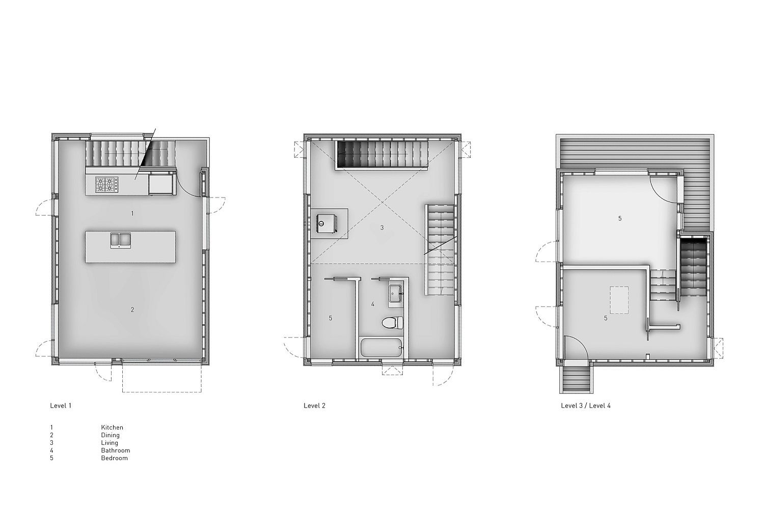 Floor plan of the Pole House by DIN Projects