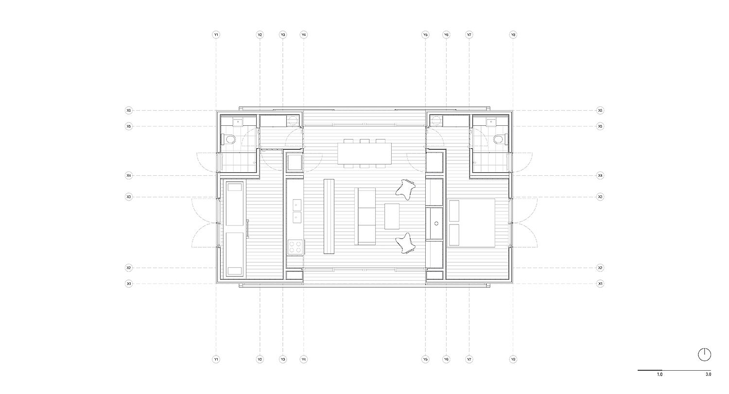 Floor plan of the small countryside retreat
