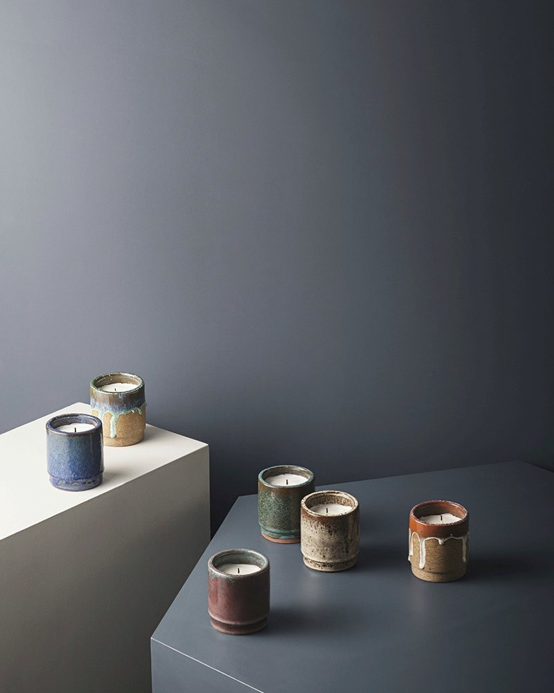 Glazed candleholders from ferm LIVING