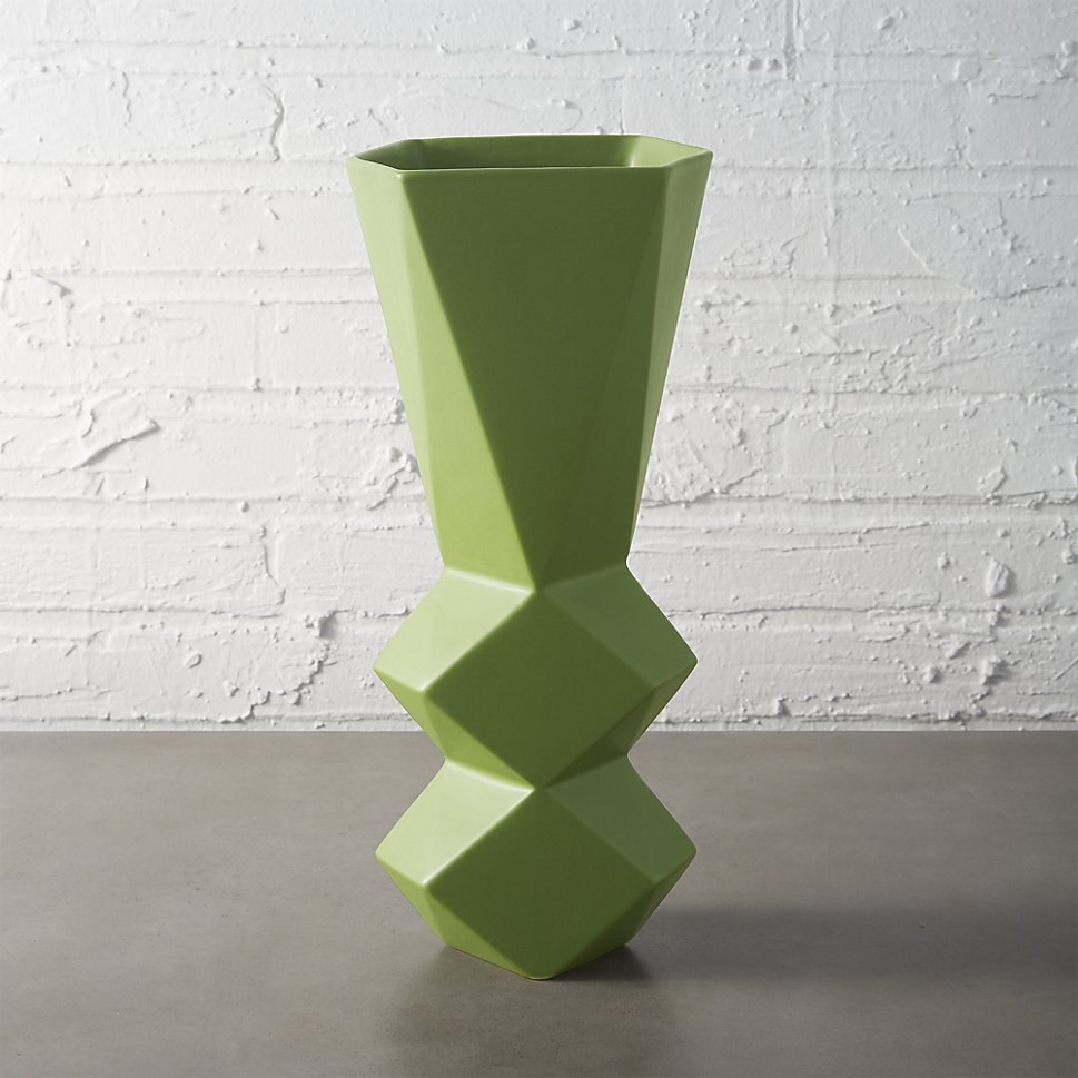 Green vase from CB2