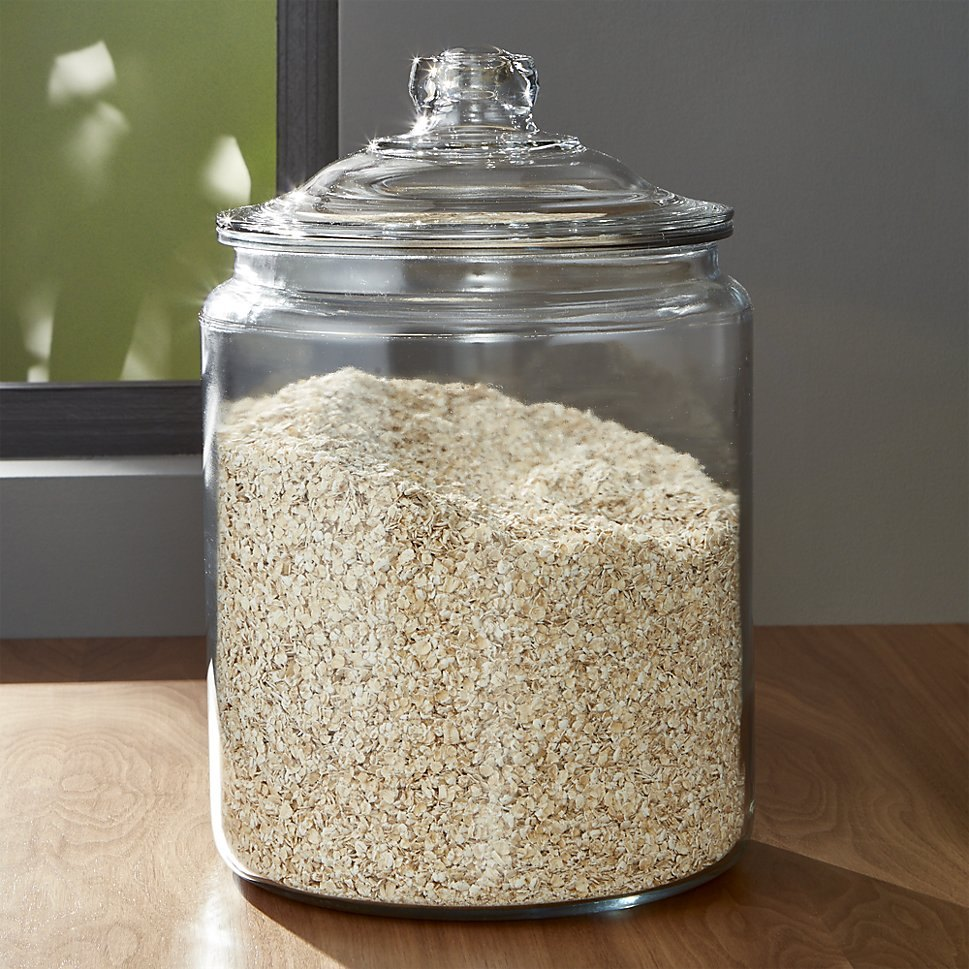 Heritage Hill glass jar from Crate & Barrel