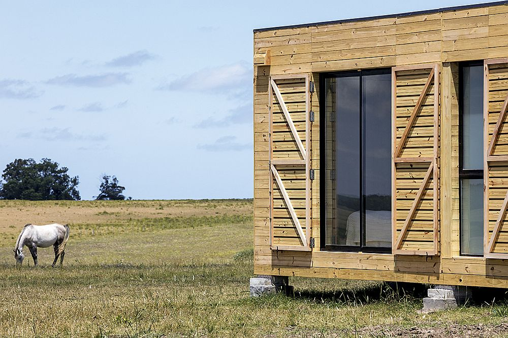 Industrialized materials and smart design make the fabrication of the prefab retreat easy