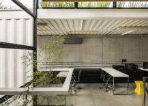 Innovative office design using shipping containers and a green roof 217x155 Container: Modular and Sustainable Office Structure with Industrial Panache